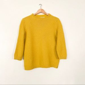 Boden Skye Funnel Neck Jumper Yellow Sweater Top L